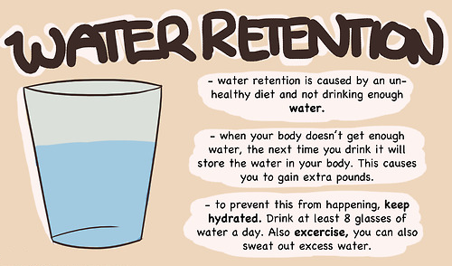 Drinking Water Gets Rid Of Water Weight